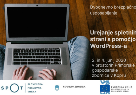 Brezplačno usposabljanje  »Urejanje spletnih strani s pomočjo WordPress-a«