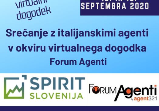 Srečanje z italijanskimi agenti v okviru virtualnega dogodka Forum Agenti