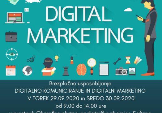 Brezplačno usposabljanje »Digitalno komuniciranje in digitalni marketing«