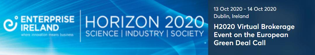 """Prijavite se in sodelujte na virtualnem B2B dogodku """"H2020 European Green Deal Call"""" – kratek rok za prijavo!"""