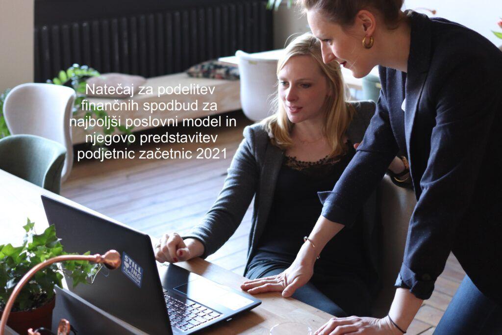 Javni razpis – »Natečaj za podelitev finančnih spodbud za najboljši poslovni model in njegovo predstavitev podjetnic začetnic 2021«